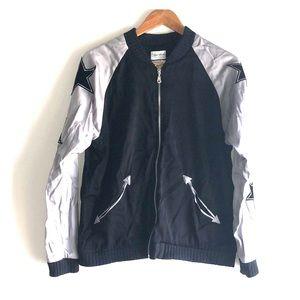 LAUREN MOSHI Embroidered Star Bomber zipper Jacket
